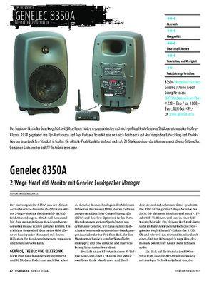 Sound & Recording Genelec 8350A - 2-Wege-Nearfield-Monitor mit Genelec Loudspeaker Manager