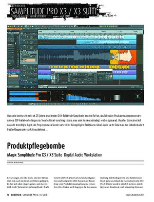 Sound & Recording Magix Samplitude Pro X3 / X3 Suite - Digital Audio Workstation