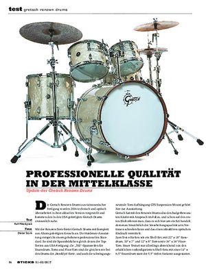 Sticks Gretsch Renown Drums