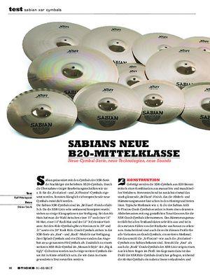 Sticks Sabian XSR Cymbals