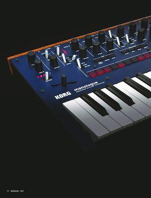 Keyboards KORG MONOLOGUE UND DAS FENSTER ZUR SEELE