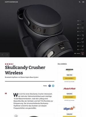 Kopfhoerer.de Skullcandy Crusher Wireless