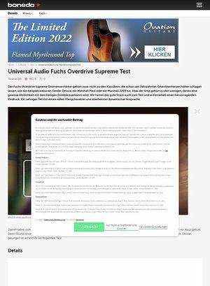 Bonedo.de Universal Audio Fuchs Overdrive Supreme