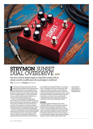 Guitarist Strymon Sunset Dual Overdrive