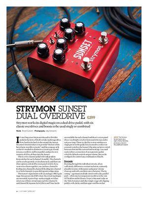 Guitarist Strymon Sunset Dual Overdrive