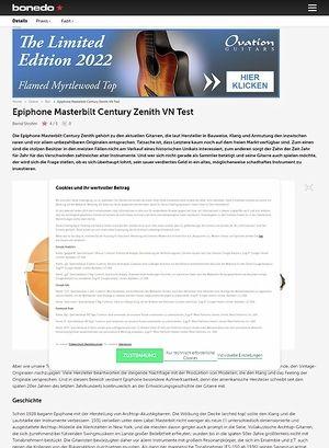Bonedo.de Epiphone Masterbilt Century Zenith