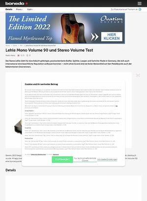Bonedo.de Lehle Mono Volume 90 und Stereo Volume