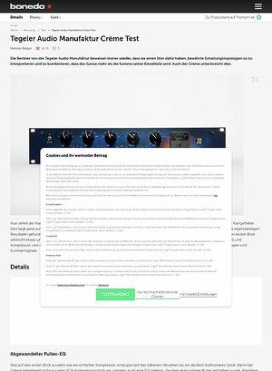 Bonedo.de Tegeler Audio Manufaktur Crème