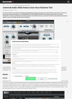Bonedo.de Universal Audio UAD2 Antares Auto-Tune Realtime