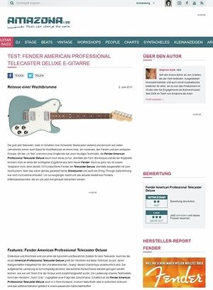 Amazona.de Fender American Professional Telecaster Deluxe