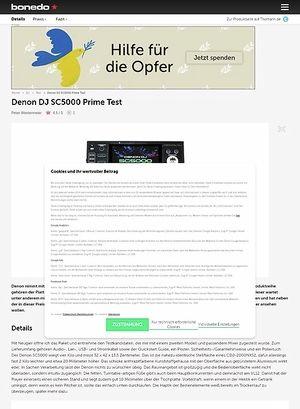 Bonedo.de Denon DJ SC5000 Prime