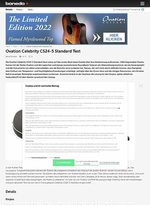 Bonedo.de Ovation Celebrity CS24-5 Standard