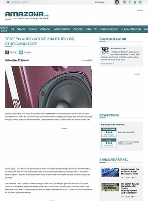 Amazona.de Test: PSI Audio Active 21M Studio RD, Studiomonitore