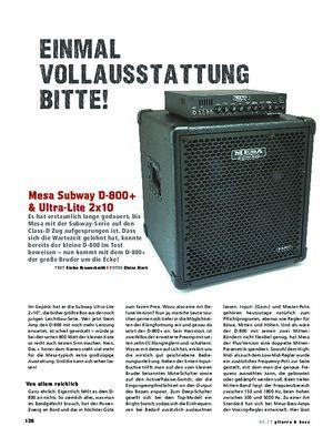 Gitarre & Bass Mesa Subway D-800+ & Ultra-Lite 2x10