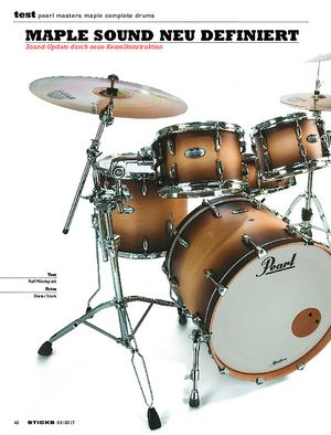 Sticks Pearl Masters Maple Complete Drums