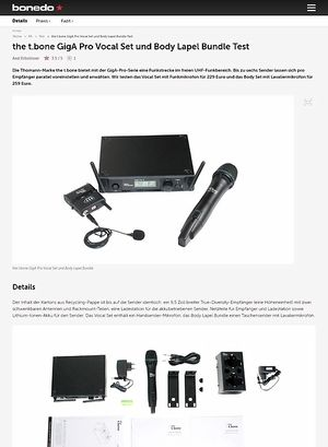 Bonedo.de the t.bone GigA Pro Vocal Set und Body Lapel Bundle