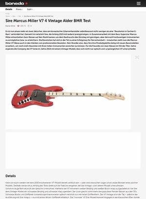 Bonedo.de Sire Marcus Miller V7 4 Vintage Alder
