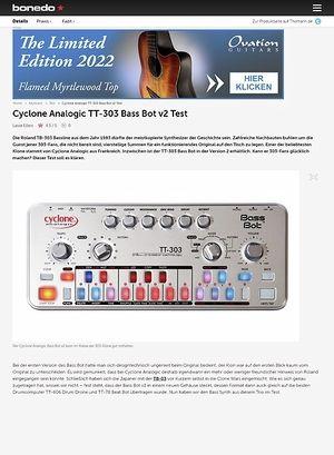Bonedo.de Cyclone Analogic TT-303 Bass Bot v2