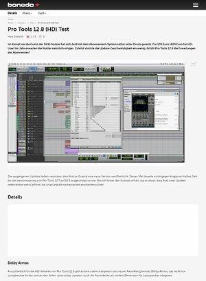 Bonedo.de Pro Tools 12.8 (HD)