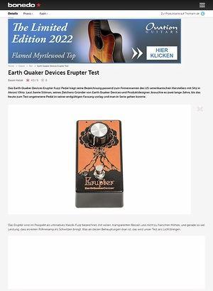Bonedo.de Earth Quaker Devices Erupter