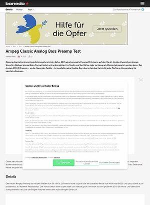 Bonedo.de Ampeg Classic Analog Bass Preamp