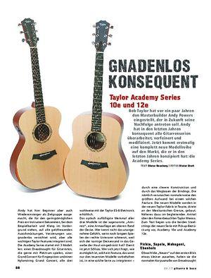 Gitarre & Bass Taylor Academy Series 10e/12e