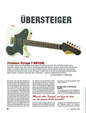 Gitarre & Bass Friedman Vintage T