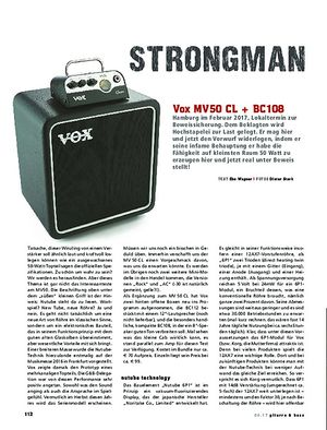 Gitarre & Bass Vox MV50 CL + BC108