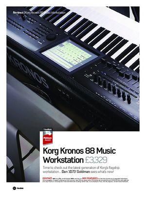 Future Music Korg Kronos 88 Music Workstation