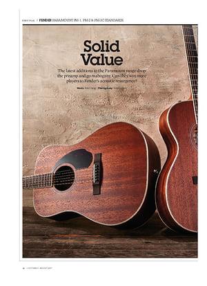Guitarist Fender PM-1 Standard Dreadnought All-Mahogany NE