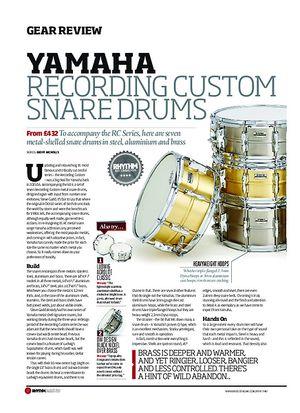 Rhythm Yamaha Recording Custom Snare Drums