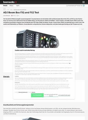 Bonedo.de ADJ Boom Box FX1 und FX2