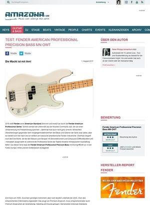 Amazona.de Fender American Professional Precision Bass MN