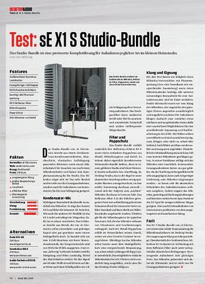 Beat Desktop Audio: sE X1 S Studio-Bundle, Mackie Big Knob Passive