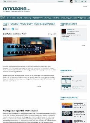 Amazona.de Tegeler Audio Manufaktur EQP-1