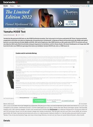Bonedo.de Yamaha MX88
