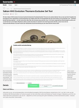 Bonedo.de Sabian HHX Evolution Thomann Exclusive Set