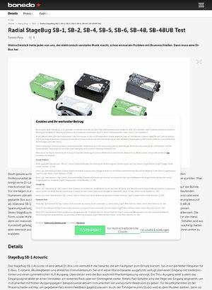Bonedo.de Radial StageBug SB-1, SB-2, SB-4, SB-5, SB-6, SB-48, SB-48UB Test