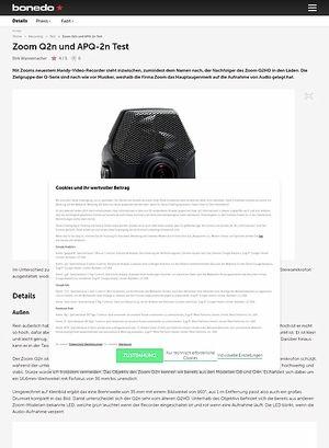 Bonedo.de Zoom Q2n und APQ-2n