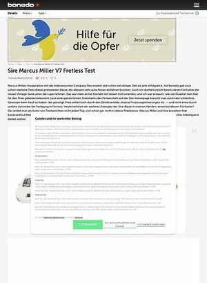 Bonedo.de Sire Marcus Miller V7 Fretless