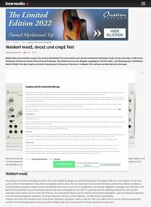 Bonedo.de Waldorf mod1, dvca1 und cmp1