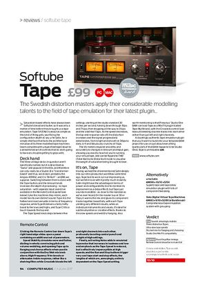 Computer Music Softube Tape