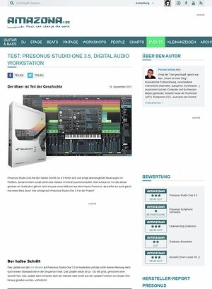 Amazona.de Presonus Studio One 3.5