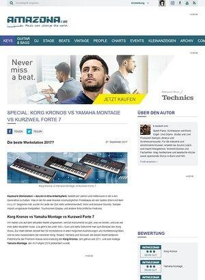 Amazona.de SPECIAL: Korg Kronos vs Yamaha Montage vs Kurzweil Forte 7