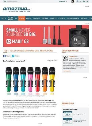 Amazona.de Telefunken M80 und M81