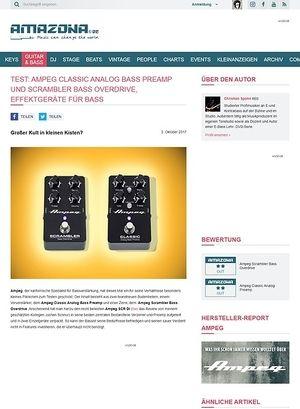 Amazona.de Ampeg Classic Analog Bass Preamp und Scrambler Bass Overdrive