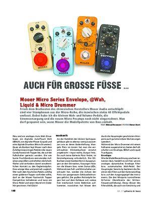 Gitarre & Bass Mooer Micro Series Envelope, @Wah, Liquid & Micro Drummer