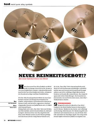 Sticks Meinl Pure Alloy Cymbals