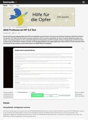 Bonedo.de AKAI Professional VIP 3.0