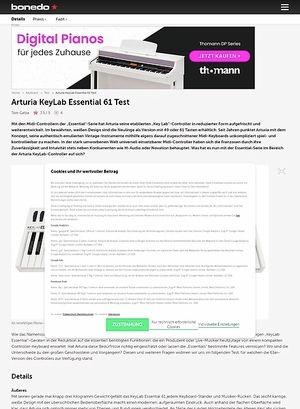 Bonedo.de Arturia KeyLab Essentials 61